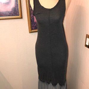 Dresses & Skirts - SUPER CUTE!! Long Maxi Dress, Black/Grey Stretchy